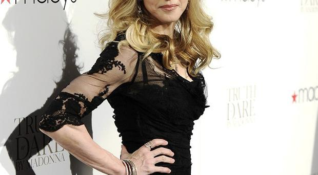 Madonna launched her fragrance at Macy's