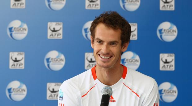 Before: Andy Murray speaks to the media at a press conference last week