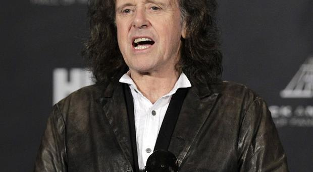 Donovan Leitch after induction into the Rock and Roll Hall of Fame (AP)