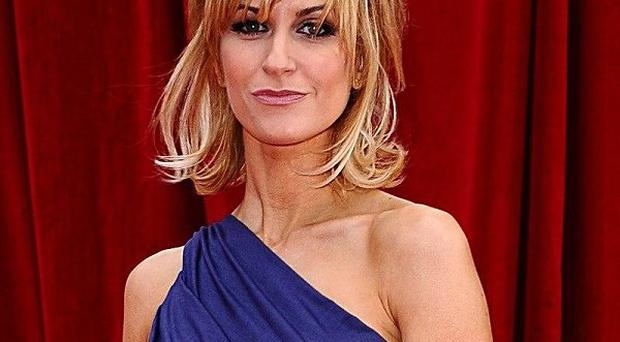 Katherine Kelly presented a gong at the Olivier Awards