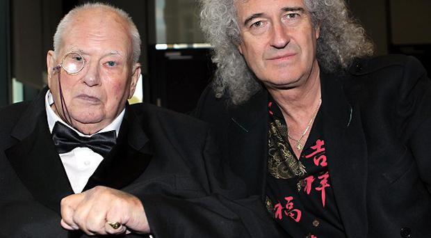 Sir Patrick Moore was joined by Brian May at the anniversary party