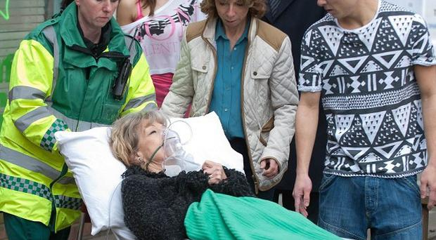 Audrey Roberts suffers a heart attack in Coronation Street