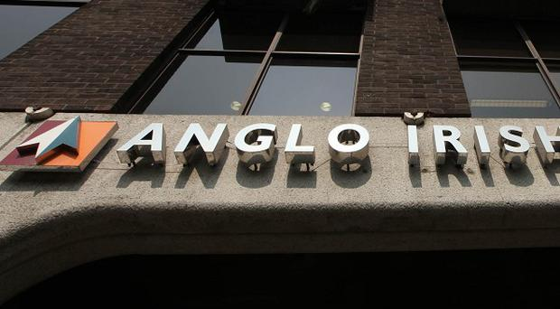The sealed-off site of the half-built Anglo Irish bank headquarters was once valued at 250 million euro