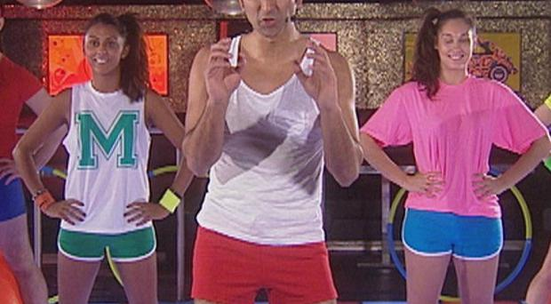 Apprentice candidate Azhar Siddique is far from comfortable in his skimpy shorts