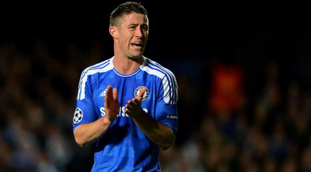 LONDON, ENGLAND - APRIL 18: Gary Cahill of Chelsea encourages his team during the UEFA Champions League Semi Final first leg match between Chelsea and Barcelona at Stamford Bridge on April 18, 2012 in London, England. (Photo by Mike Hewitt/Getty Images)