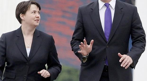 Prime Minister David Cameron with Scottish Conservative leader Ruth Davidson