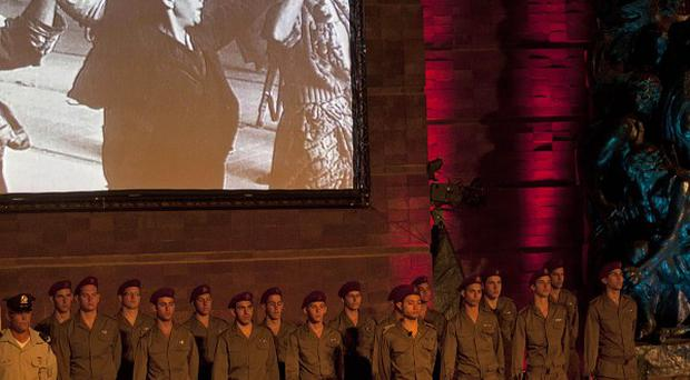 Israel is paying tribute to the six million Jews killed by the Nazis in World War II (AP)