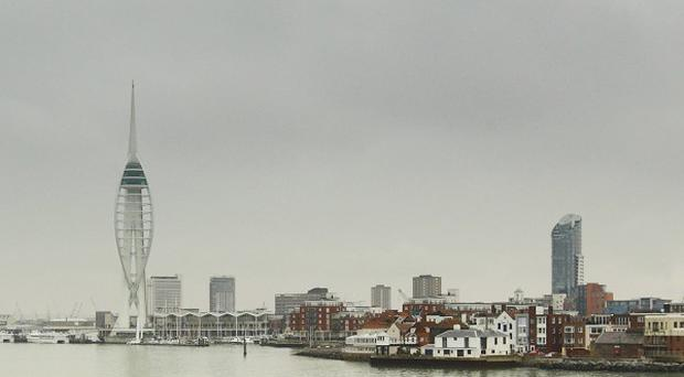 A 21-gun salute has been fired at Portsmouth Harbour to mark the Queen's 86th birthday