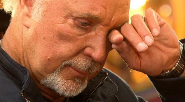 The voice judge Sir Tom Jones was moved to tears by one hopeful