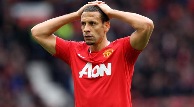 MANCHESTER, ENGLAND - APRIL 22: Rio Ferdinand of Manchester United looks dejected at the end of the Barclays Premier League match between Manchester United and Everton at Old Trafford on April 22, 2012 in Manchester, England. (Photo by Alex Livesey/Getty Images)