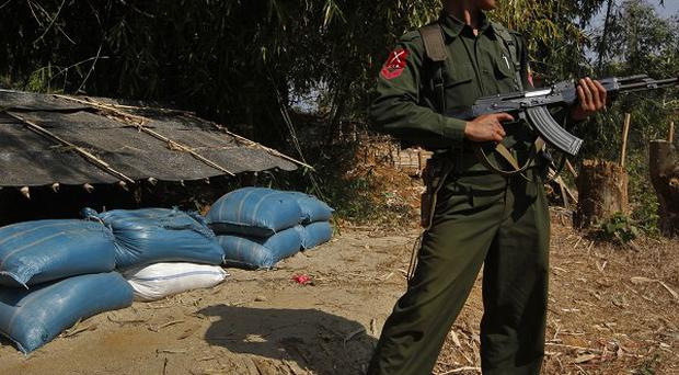 Kachin rebels oppose the Burmese regime, and EU arms sanctions will remain in place