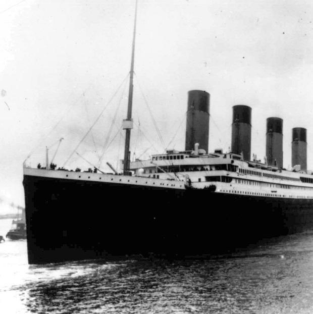 Titanic leaves Southampton on her maiden voyage on April 15 2012 (AP)