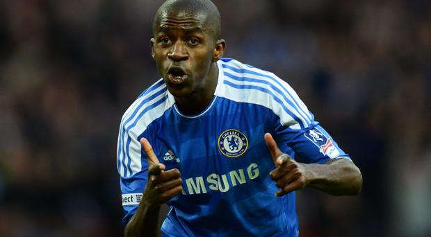 LONDON, ENGLAND - APRIL 15: Ramires of Chelsea celebrates as he scores their thrid goal during the FA Cup with Budweiser Semi Final match between Tottenham Hotspur and Chelsea at Wembley Stadium on April 15, 2012 in London, England. (Photo by Mike Hewitt/Getty Images)
