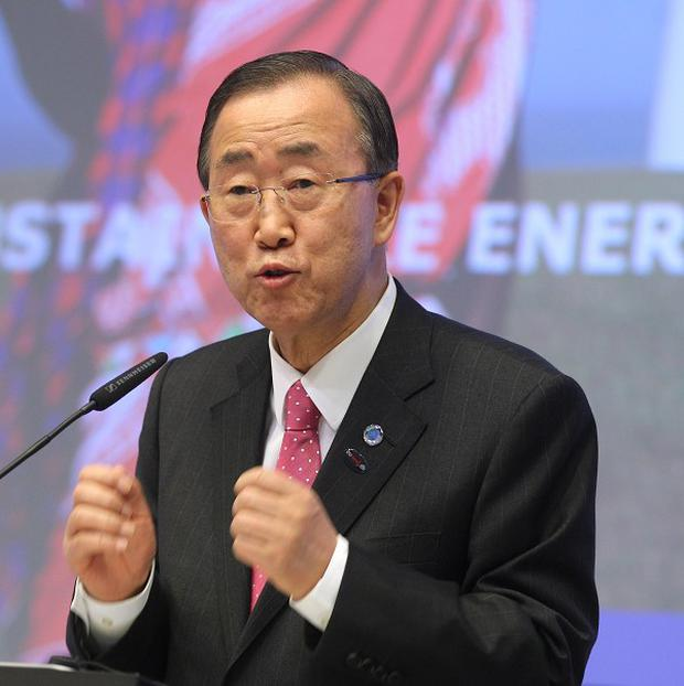 Ban Ki-moon urged North Korea to refrain from 'further provocative measures' (AP/Yves Logghe)