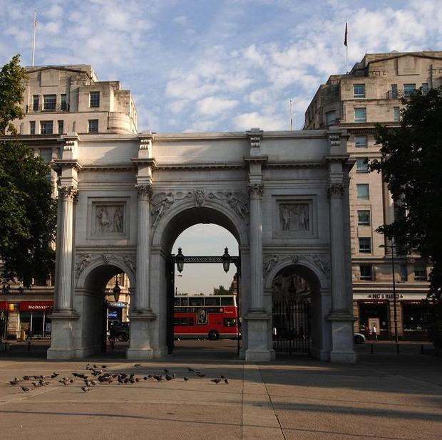 Marble Arch is one of the three central London locations which have become sites for rough sleepers, officials say