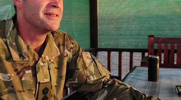 Brigadier Patrick Sanders has warned against a 'rush for the exit' among international forces in Afghanistan