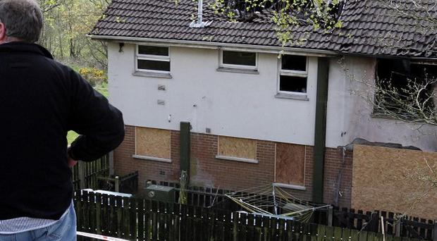 The flat in Dungannon where Betty and Deirdre McGirr lost their lives