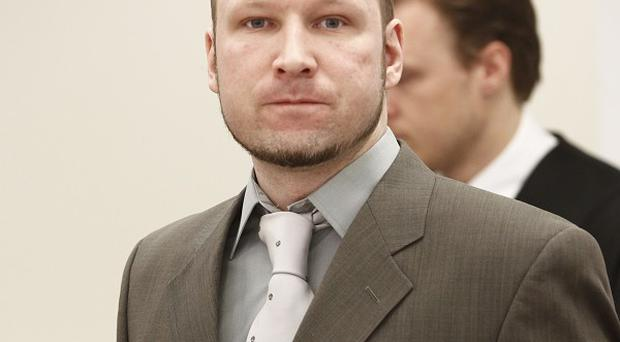 Mass killer Anders Breivik in court (AP)