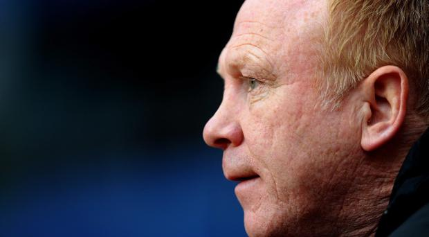 BIRMINGHAM, ENGLAND - APRIL 24: Aston Villa Manager Alex McLeish looks on prior to the Barclays Premier League match between Aston Villa and Bolton Wanderers at Villa Park on April 24, 2012 in Birmingham, England. (Photo by Laurence Griffiths/Getty Images)