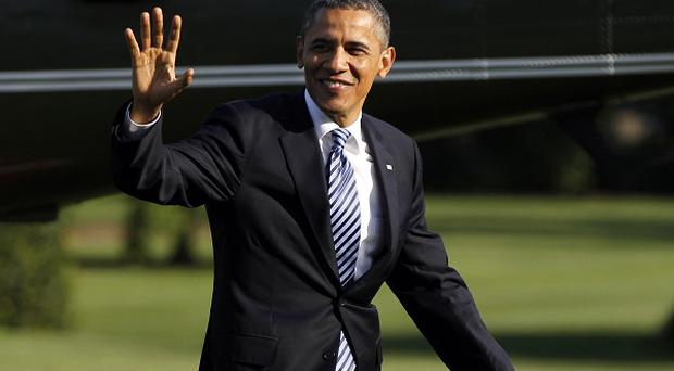 Barack Obama hit the campaign trail with back-to-back rallies on May 5 in Ohio and Virginia (AP/Pablo Martinez Monsivais)