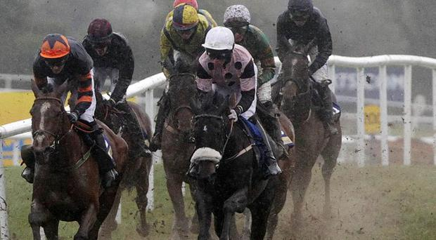Conditions were testing at Punchestown yesterday