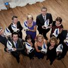 Ulster Bank Business Achievers Awards 2011, Barbara-Ann Hitchens (back right) from Comber-based TG Eakin and Eleanor McEvoy (front right) from Londonderry-based Budget Energy are pictured with David Thomas, Ulster Banks Managing Director of Corporate Markets and the other winners