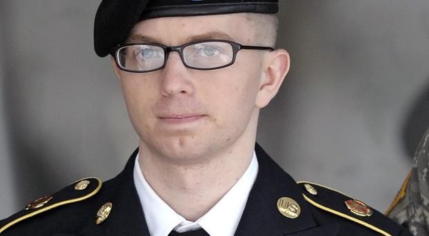 Private Bradley Manning departs a courthouse in Fort Meade, Maryland (AP/Cliff Owen)