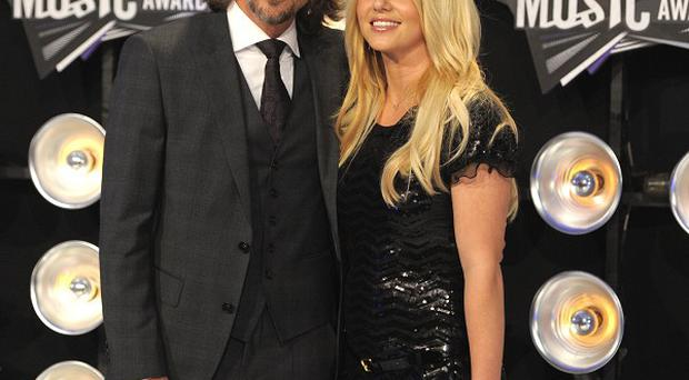 Britney Spears with fiance Jason Trawick (AP/Chris Pizzello)