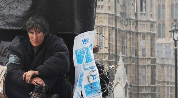 Peace campaigner Maria Gallastegui has failed to overturn a ban on protesters sleeping near the Houses of Parliament