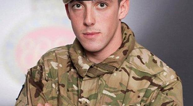 Guardsman Michael Roland had been in Afghanistan for less than four weeks when he was shot during a patrol (MoD Crown Copyright/PA)