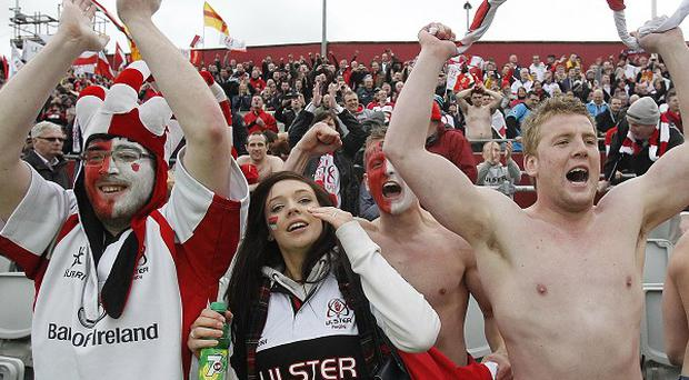 Peter Robinson and Martin McGuinness celebrated Ulster reaching the Heineken Cup final