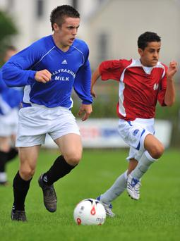 <b>Cathair Friel (left) - Limavady United</b><br /> It wasn't that long ago that Limavady were fighting against relegation, but a late season run has seen them climb the table and secure a top half finish. Cathair Friel has been one of the Roesiders most influential players in April, helping David Platt's men secure wins over Banbridge Town, Glebe Rangers and Ards. The pacey attacker has become one of the better players in the division at the age of just 18.
