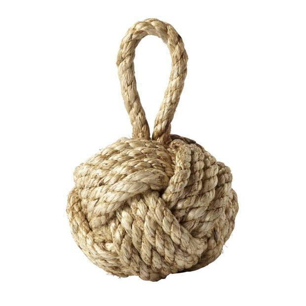 <b>1. Nautical knot doorstop</b> National Gallery, £35. This tangled doorstop is made out of a single piece of jute rope. 020 7747 2870, nationalgallery.co.uk