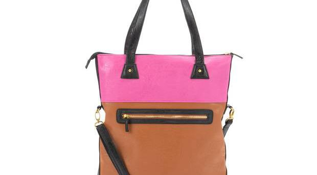 <b>1. Two-tone orange and pink: £19.99, newlook.co.uk -</b> Wear this block-coloured bag as a shopper when full, or make use of the shoulder strap to create a satchel shape. The block pink gives this classic bag a modern edge.