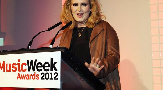 Adele turned up at the Music Week Awards in London