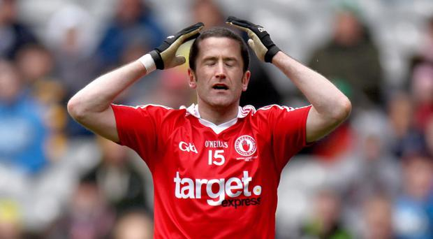 Tyrone's Stephen o'Neill reflects on the glorious chance he missed as the Red Hands are rocked by Kildare yesterday