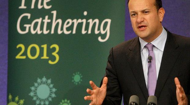 Irish Minister for Transport, Tourism and Sport Leo Varadkar at the launch of The Gathering