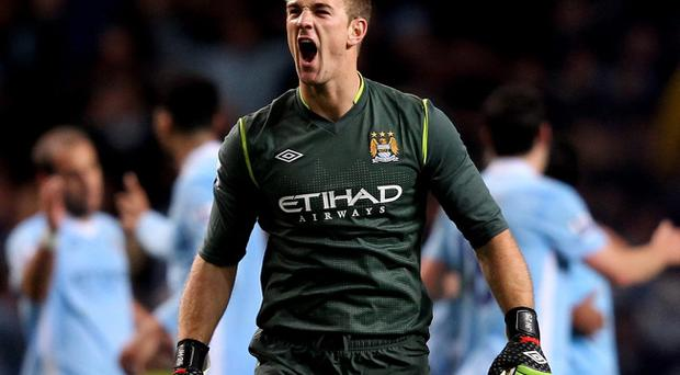 <b>MANCHESTER CITY</b><br /> <b>Joe Hart</b><br /> Barely a save to make for England's number one, but surprised by one Nani effort early in the second half. 6
