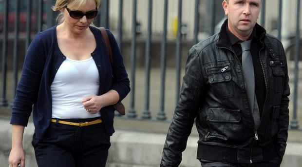James McPolin and his wife Colleen outside Armagh Court on Monday after they were handed suspended sentences