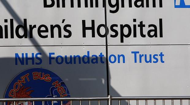 Birmingham Children's Hospital, where one-year-old Hayley Fullerton died of heart failure on November 11, 2009