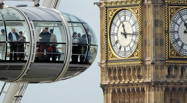 The London Eye and Big Ben are just two of London's many tourist attractions
