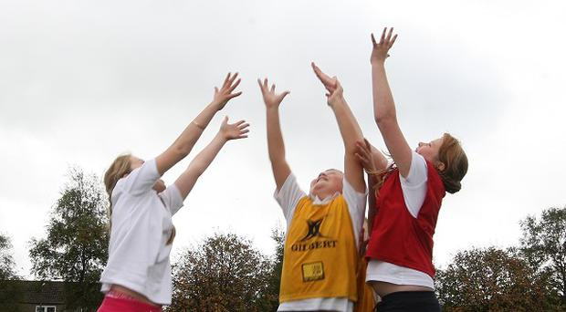 Many young girls feel self-conscious during PE at school, according to a new report