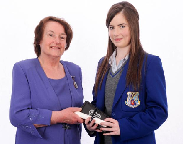 St Killian's College pupil Emily Campbell, who was ranked first in GCSE English Language, 2nd in English Literature and 3rd in History.