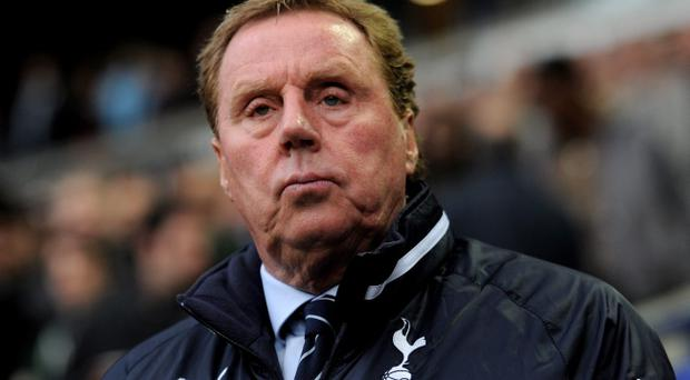 BOLTON, ENGLAND - MAY 02: Tottenham Hotspur Manager Harry Redknapp looks on prior to the Barclays Premier League match between Bolton Wanderers and Tottenham Hotspur at the Reebok Stadium on May 2, 2012 in Bolton, England. (Photo by Michael Regan/Getty Images)