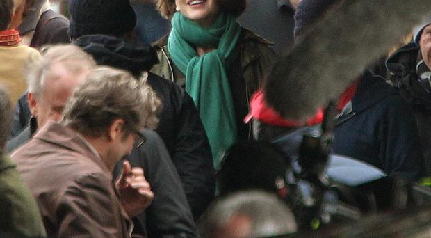Nicole Kidman wrapped up warmly to shoot The Railway Man in Falkirk