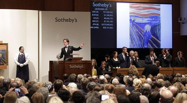Edvard Munch's The Scream is auctioned at Sotheby's in New York (AP)