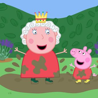 The Queen is to become the first human character to appear in Peppa Pig (Entertainment One/Astley Baker Davies/PA)