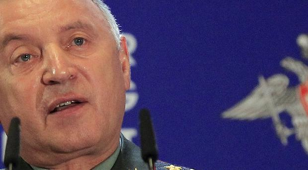Russia's Chief of General Staff Nikolai Makarov has issued a blunt warning to Nato over its missile plans (AP)