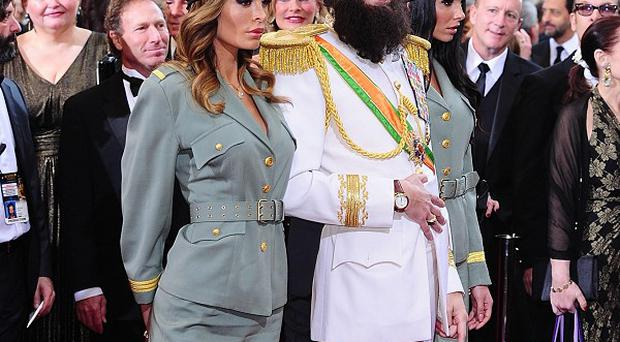 Sacha Baron Cohen plays Admiral General Aladeen in his new film The Dictator