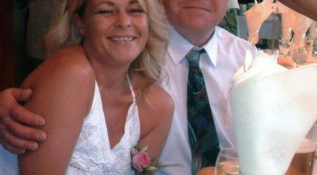 Jeffrey Burrows pictured with his late wife Brione